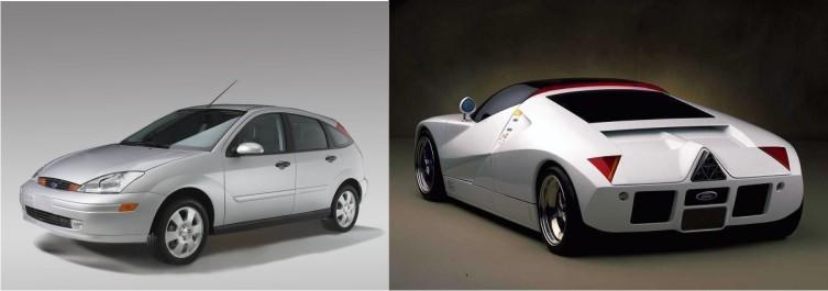 Ford Focus y Ford GT90.
